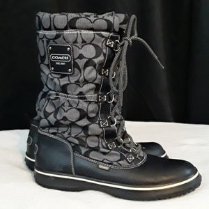 Coach Black/Gray Rain or Snow Boots